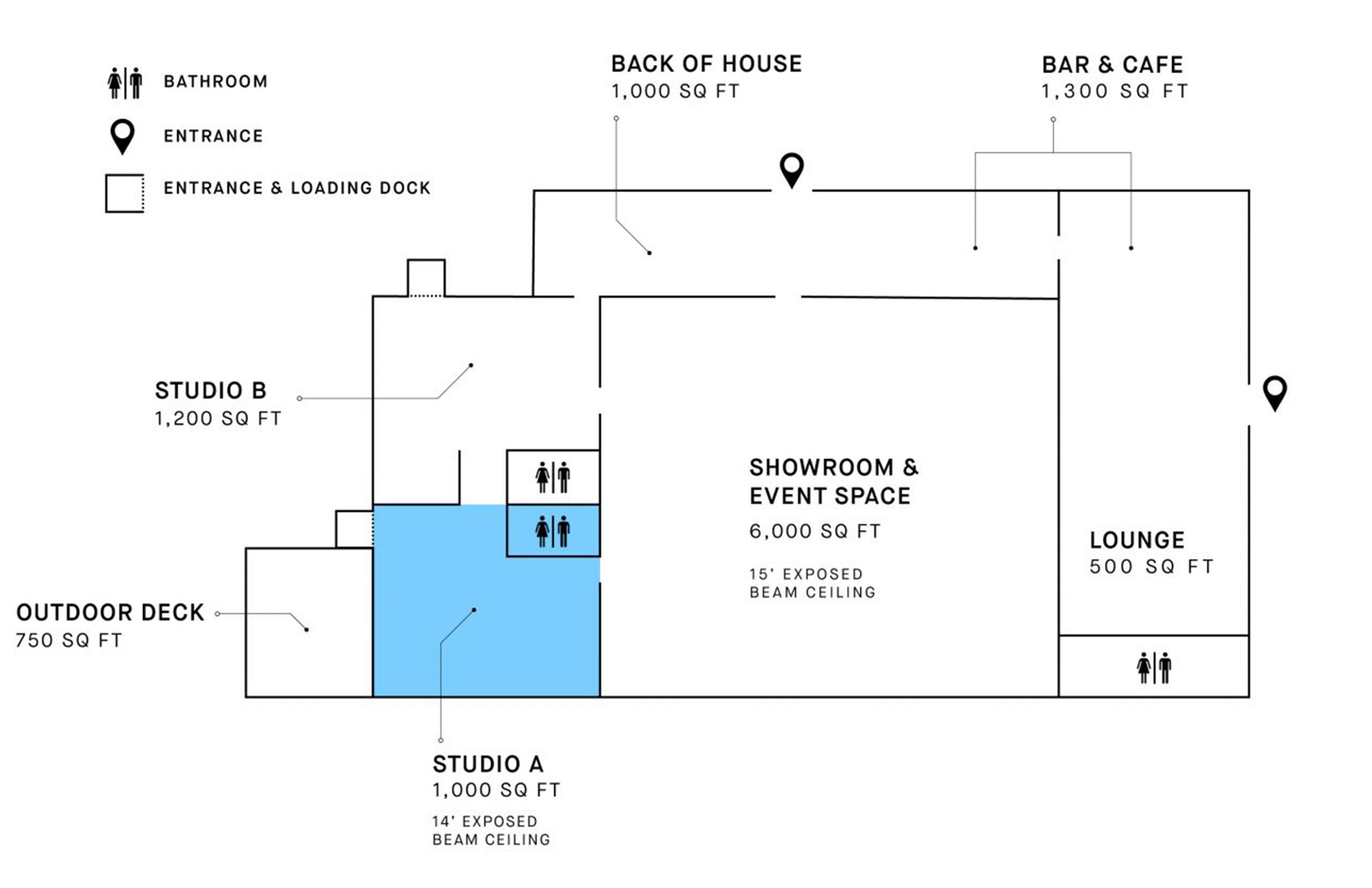 wayla studios midtown studio a floorplan